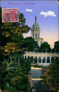 Postcard Breslau Wrocław Liebichshöhe, historisches Bauddenkmal 1910