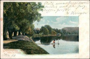 Ansichtskarte Bad Malente-Gremsmühlen-Malente Partie am Dieksee 1908