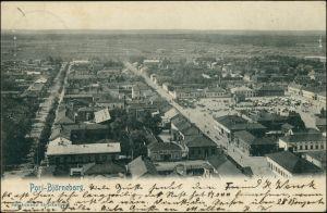 Postcard Pori Björneborg Straßen, Plätze 1909