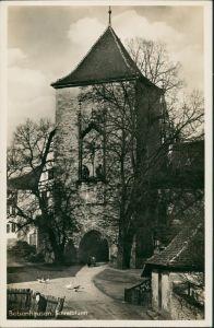 Ansichtskarte Bebenhausen-Tübingen Partie am Schreibturm, Turm Gebäude 1940