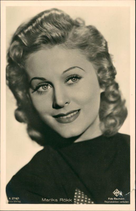 Film Fernsehen Theater MARIKA RÖKK Porträt-Foto, Ross-Karte 1940