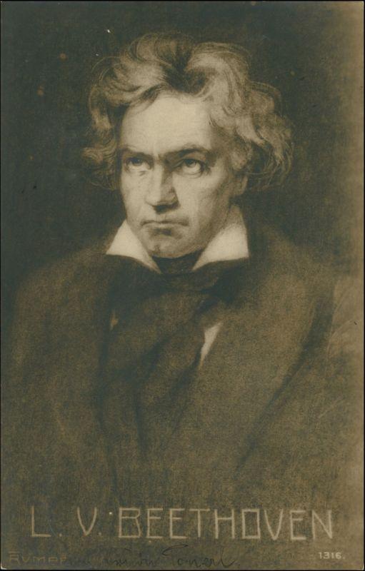 Ansichtskarte  Ludwig van Beethoven Portrait Künstlerkarte Fritz Rumpf 1903