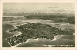 Ansichtskarte Reichenau (Bodensee) Luftbild aus großer Höhe 1926