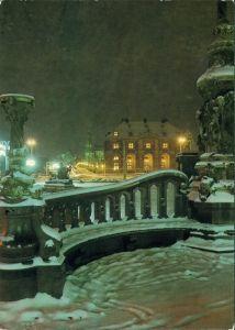 Ansichtskarte Innere Neustadt-Dresden Neustädter Markt - im Winter 1986