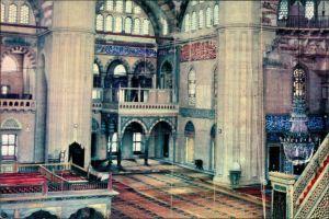 Edirne Odrin Andrinople Adrianople Ἁδριανούπολις Edirne Interior of Selimiye Mosque/Moschee Kirchliches Bauwerk 1970