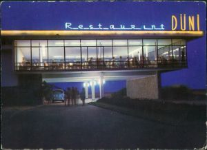 Nessebar Несебър Restaurant DÜNI bei Nacht 1970