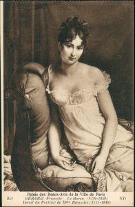 Ansichtskarte  Gerard: Junge Frau auf Sofa Le baron 1913