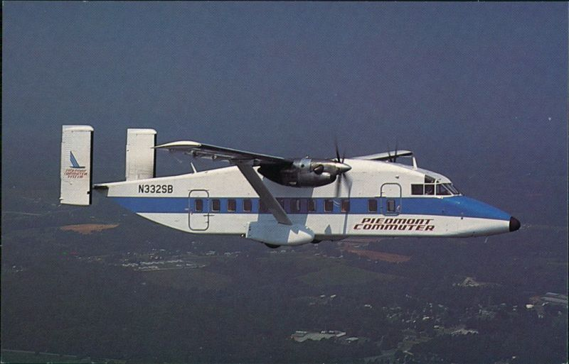 Propellerflugzeug PIEDMONT COMMUTER Operated by Sunbird Airlines prop-jet 1990