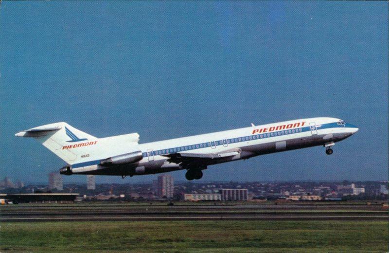 Ansichtskarte  Flugzeug PIEDMONT AIRLINES Boeing 727-295 beim Start 1990