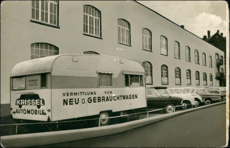 Ansichtskarte  Krissel Automobile Verkaufsstelle VW Mercedes Benz 1962 0