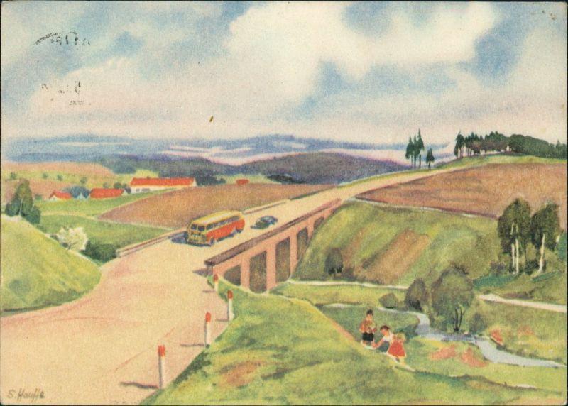 Ansichtskarte  Glückwunsch: Pfingsten, Künstlerkarte S. Hauffe 1960 0