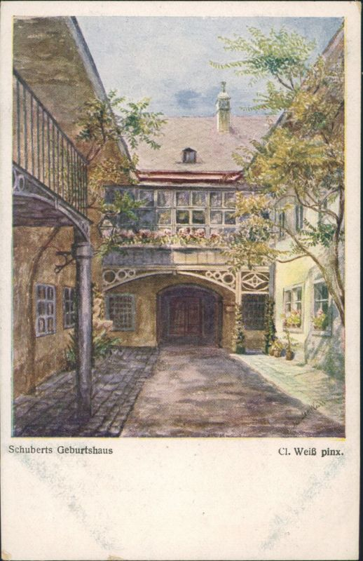 Ansichtskarte Himmelpfortgrund-Wien Schubertsgeburtshaus 1918