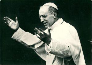 Ansichtskarte  Papst (Vatikan) Pius P.P. XII 1956
