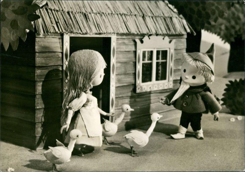 Ansichtskarte  Sandmann / Sandmänchen besucht Kind DDR Fernseh 1974