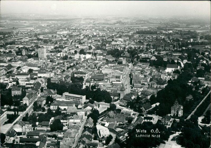 Ansichtskarte Wels (Oberösterreich) Luftbild 1960