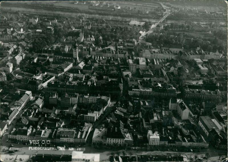 Ansichtskarte Wels (Oberösterreich) Luftbild 1940