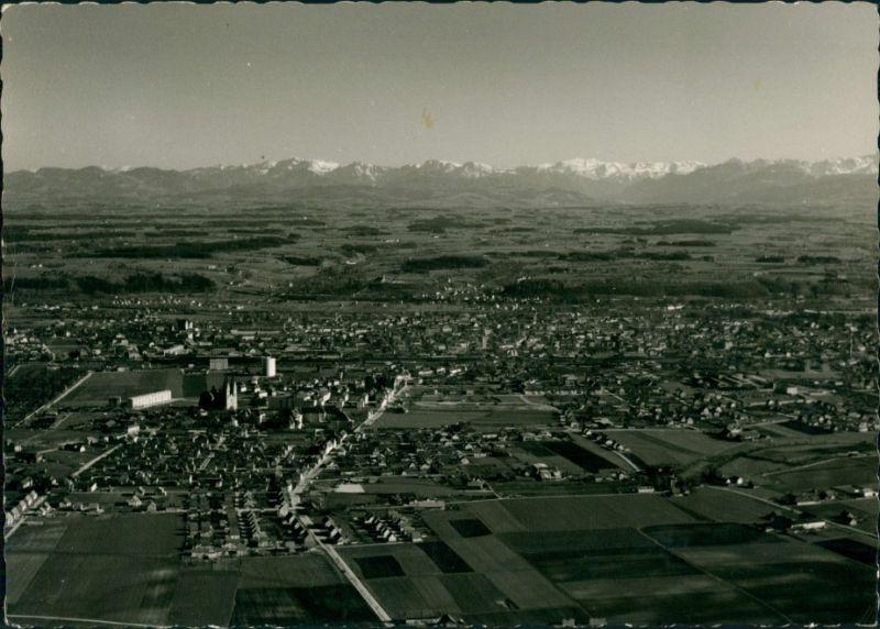 Ansichtskarte Wels (Oberösterreich) Luftbild 1965