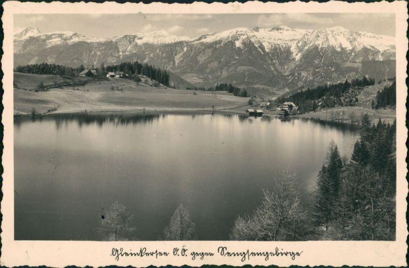 Ansichtskarte Windischgarsten Partie am See 1935