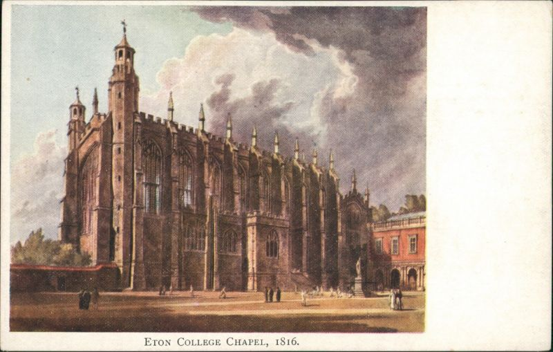 Postcard Eton ETON COLLEGE CHAPEL Great Britain Postcard 1950
