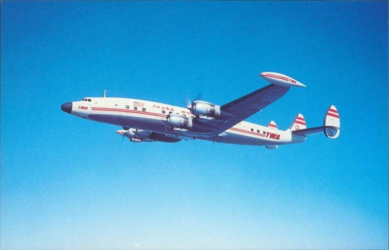 Propellerflugzeug TRANS WORLD AIRLINES Lockheed 1049G Constellation 1990