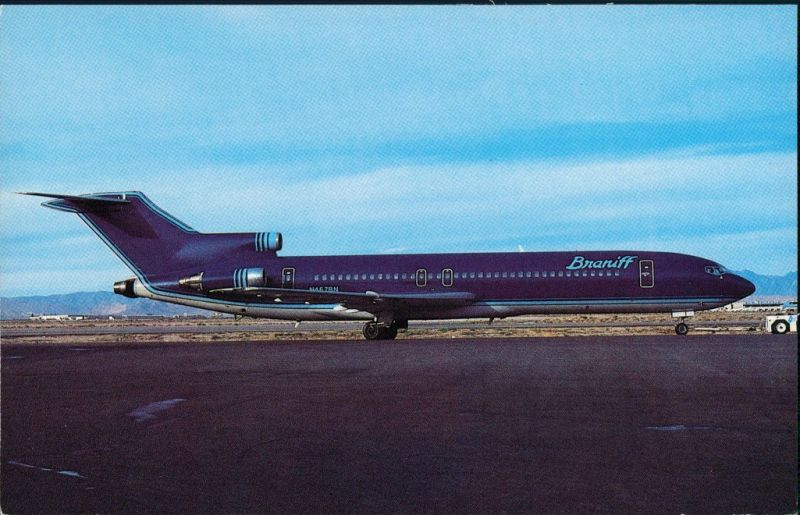 Ansichtskarte  Flugzeug BRANIFF INTERNATIONAL Boeing 727-227 1990