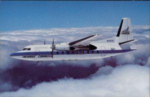 Ansichtskarte  Propellerflugzeug PIEDMONT COMMUTER Fokker F-27-600 1990