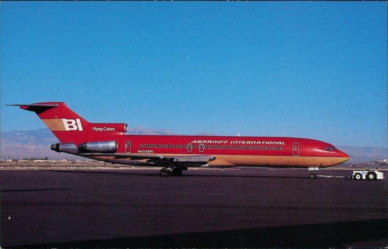 Ansichtskarte  Flugzeug BRANIFF INTERNATIONAL Boeing 727-227 1988