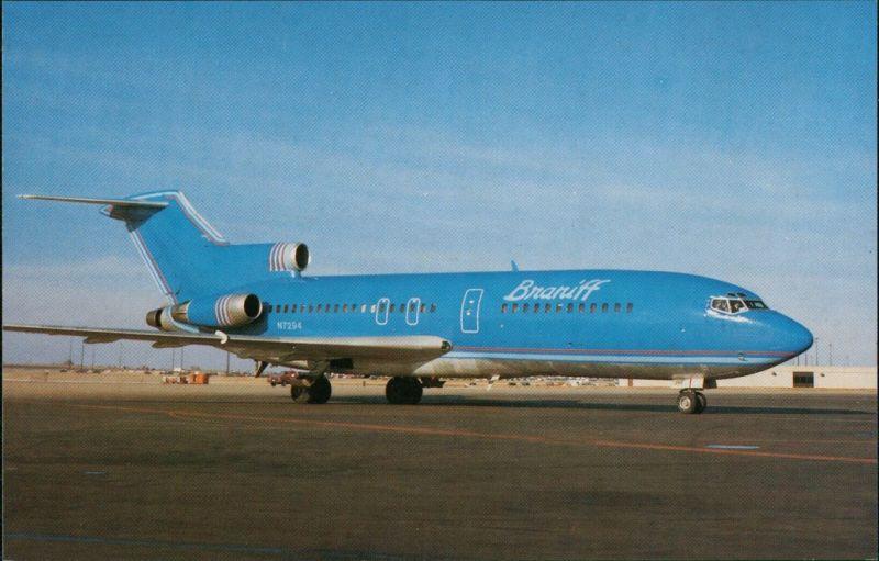 Ansichtskarte  Flugzeug BRANIFF INTERNATIONAL Boeing 727-27 1988