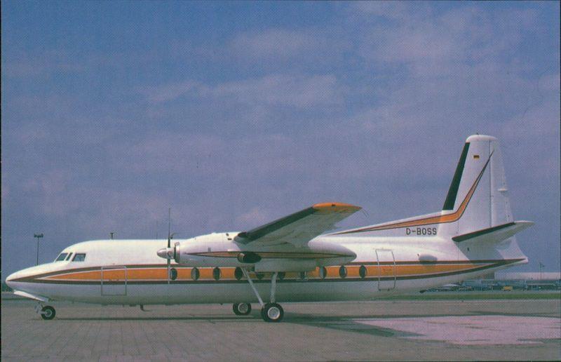 Propellerflugzeug F 27 Friendship - Fokkers Turboprop FH 227 auf Flughafen 1990