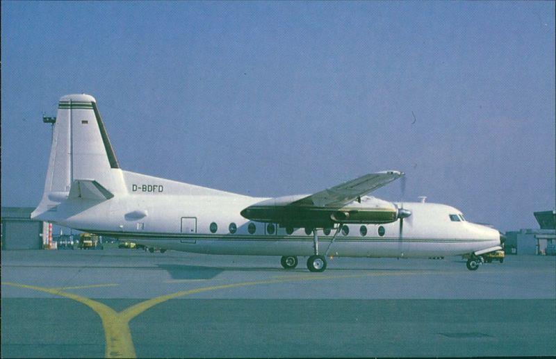 Propellerflugzeug F 27 Friendship - Fokkers Turboprop FH 227 (D-BDFD) 1990