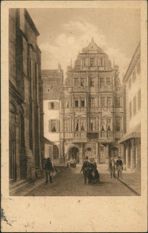 Ansichtskarte Heidelberg Gasthaus zum Ritter - Gemälde 1924