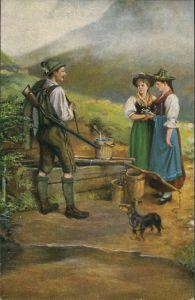 Künstlerkarte Deutsche Meister H. Gundler