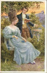 Kränzle Künstlerkarte, Liebespaar Liebe & Romantik, Kunst-AK 1920