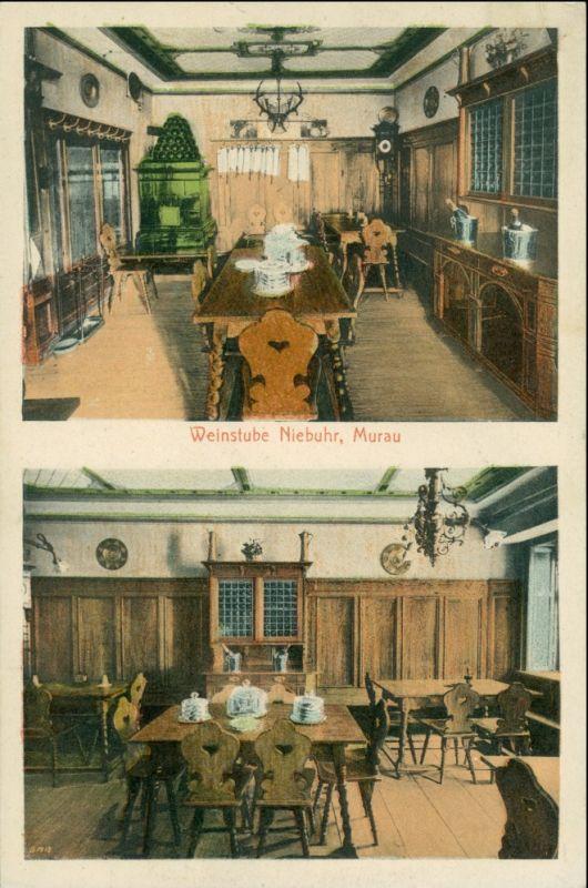 Ansichtskarte Murau 2 Bild Weinstube Niebuhr 1917
