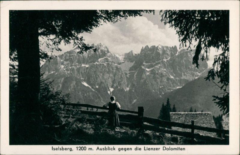 Ansichtskarte Lienz Iselsberg Ausblick gegen die Lienzer Dolomiten 1951