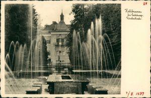 Hellbrunn Fürsten Villa Schloss ähnliches Gebäude, Wasserspiele 1932