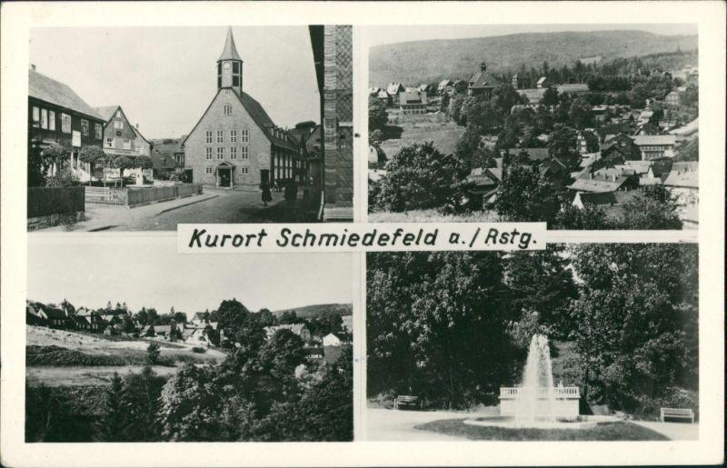 Schmiedefeld (Rennsteig) Stadtteilanischten Mehrbild-AK mit 4  1960