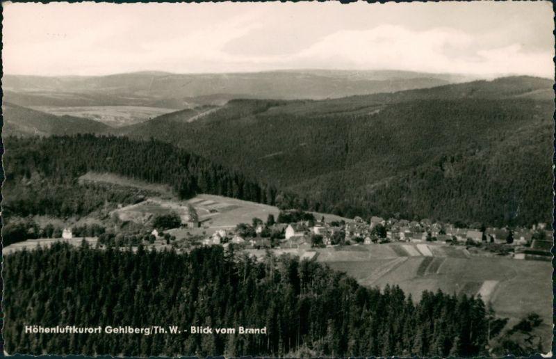 Ansichtskarte Gehlberg Panorama-Ansicht Blick vom Brand, DDR Postkarte 1961