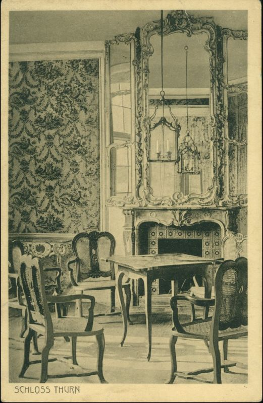 Ansichtskarte Heroldsbach Schloss Thurn - Innen - Kamin 1922