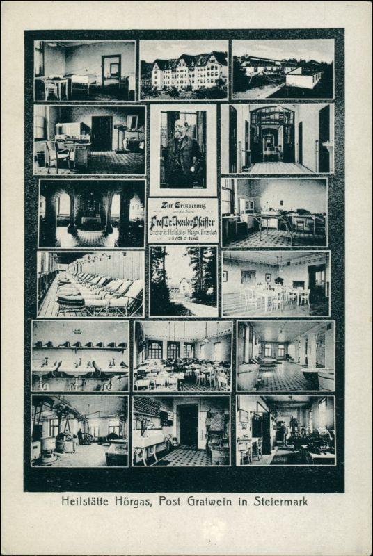 Ansichtskarte Hörgas-Enzenbach Mehrbild AK: Heilanstalt 1926