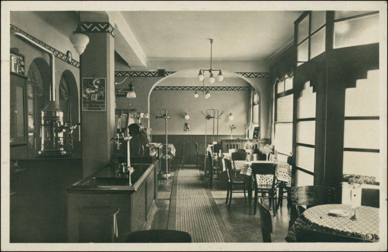 Ansichtskarte Auerbach-Bensheim Cafe Restaurant Beger - Saal 1933