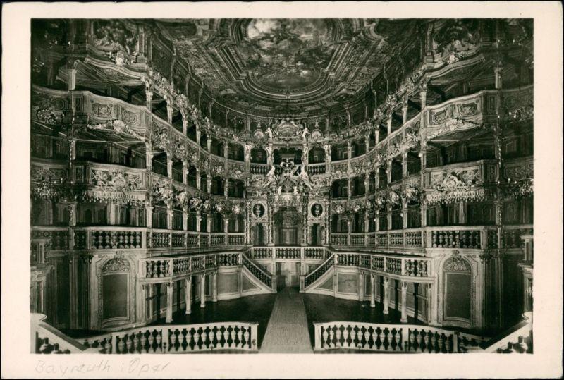 Ansichtskarte Bayreuth Opernhaus - Innen 1932