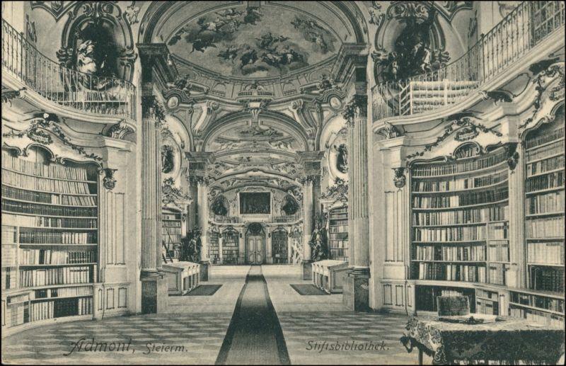 Ansichtskarte Admont Sift, Bibliothek 1918
