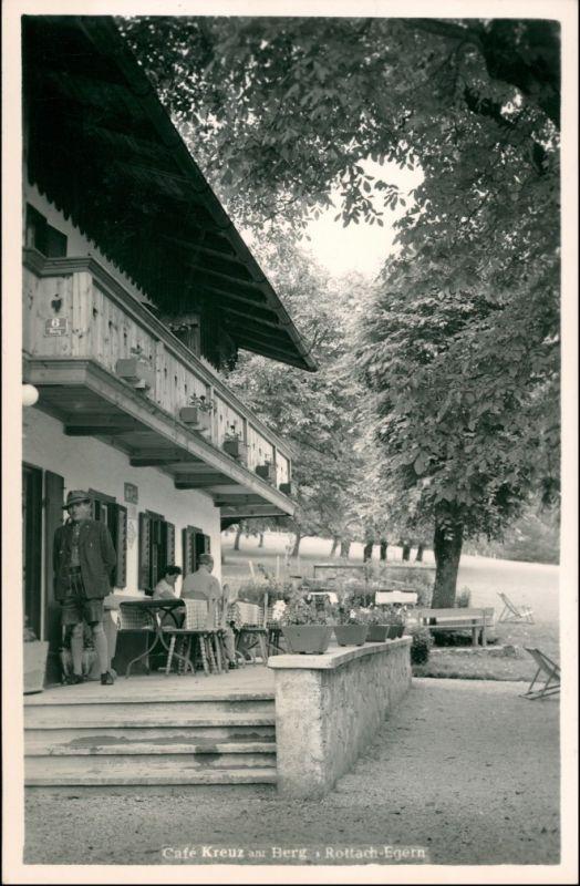 Ansichtskarte Egern-Rottach-Egern Cafe Kreut am Berg 1932
