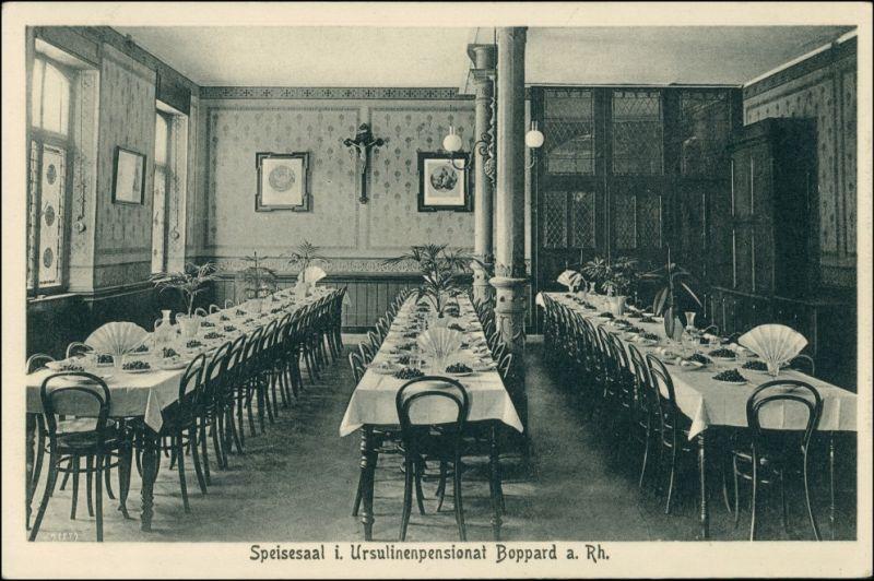 Ansichtskarte Boppard Ursulinenkloster - Speisesaal 1922