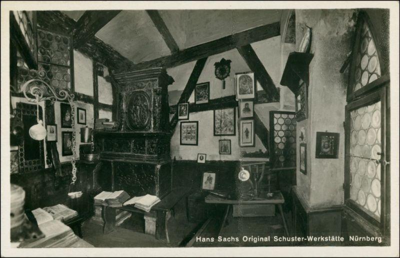 Ansichtskarte Nürnberg Hans Sachs Schuster Werkstatt - Innen 1931