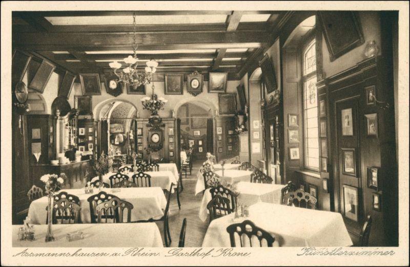 Assmannshausen am Rhein-Rüdesheim (Rhein) Gasthof Krpne - Künstlerzimmer 1928