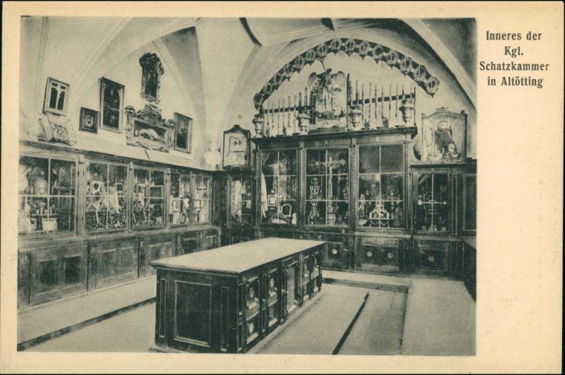 Ansichtskarte Altötting Wallfahrtskirche - Schatzkammer 1923