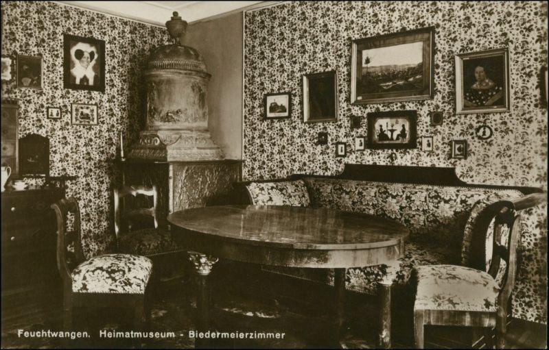 Ansichtskarte Feuchtwangen Museum - Biedermeierzimmer 1928