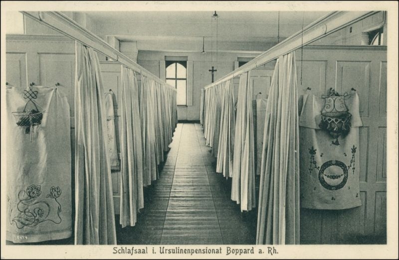 Ansichtskarte Boppard Ursulinenkloster - Schlafsaal 1922